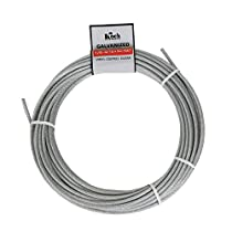 Koch A41134 7 x 7 Pre-cut Vinyl Coated Galvanized Wire Rope Cable 1/8-3/16-Inches by 50-Feet, Coil, Clear