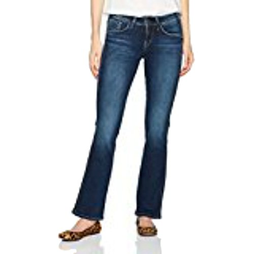 Silver Jeans Women's Suki Curvy Fit Mid Rise Slim Bootcut Jeans, Medium Hand Sand, 25x35 by Silver Jeans Co. (Image #1)