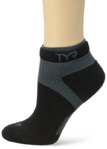 TYR Sport All Elements Training Socks, Black, Large/X-Large