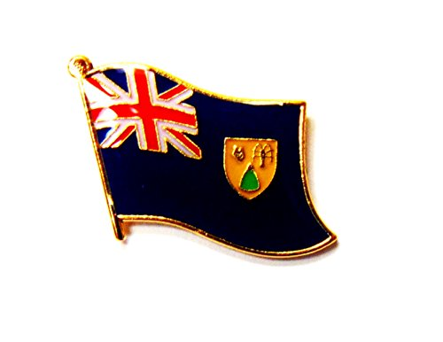 Pack of 50 Turks and Caicos Islands Flag Lapel Pins, Turks and Caicos Pin Badge