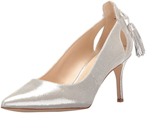 Nine West Women's Modesty Metallic Dress Pump - Silver - ...