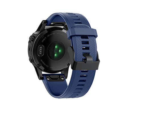 Watch Band Compatible with Fenix 5/5 Plus/Forerunner 935/Quatix5/5 Sapphire/Approach S60 Quick Fit Band Replacement Strap Watch Bracelet Accessory (Midnight Blue)
