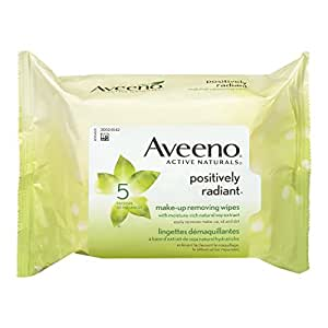Aveeno Positively Radiant Make-Up Removing Wipes, 25 Count