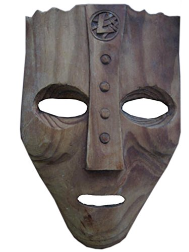 Viking Mask God Norse Old Hand Crafted Wood Wooden Art (Norse God Costume)