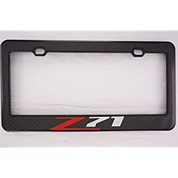 Amazon.com: Chevy Z71 Carbon Fiber License Plate Frame: Automotive