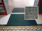 All Purpose Heavy Duty Entrance Mat - ''FloorGuard Diamond'' - 4' x 12' - Gray - Indoor or Covered Outdoor - Commercial or Residential