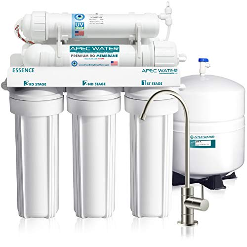 (APEC Top Tier UV Ultra-Violet Sterilizer 75 GPD 6 Stage Ultra Safe Reverse Osmosis Drinking Water Filter System (ESSENCE ROES-UV75))