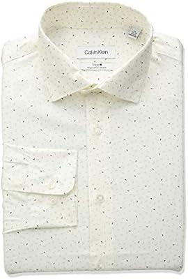 Calvin Klein Men's Dress Shirts Non Iron Regular Fit Stretch Print