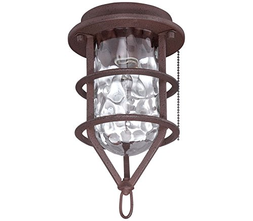Craftmade OLK200CFL-BR 1 Light Outdoor Cage Fan Light Kit with Clear Water Glass, Brown