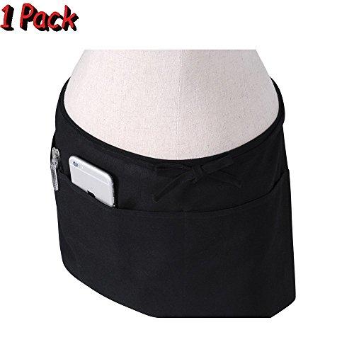 Black 3 Pocket Waist Apron - 5