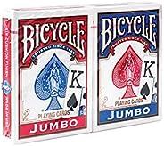 Bicycle Baralho padrão e jumbo – Baralho único, 2 pacotes, 4 pacotes, 12 pacotes – Poker, Rummy, Canasta, Pino