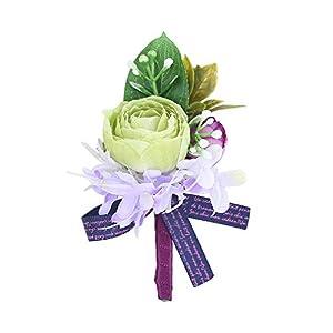 Febou Wedding Wrist Corsage Boutonniere for Bride Bridemaids 2