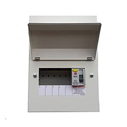 wylex nmrs506 5 way all metal consumer unit with 100a 30ma rcd fuse relay box wylex nmrs506 5 way all metal consumer unit with 100a 30ma rcd incomer amazon co uk diy & tools