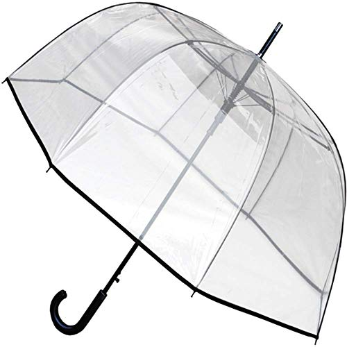 COLLAR AND CUFFS LONDON - Rare Automatic - Windproof EXTRA STRONG - StormDefender - Fiberglass - Clear Dome Umbrella ()