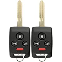 KeylessOption Keyless Entry Remote Car Key Fob Blank Uncut Ignition Transponder Replacement for Subaru CWTWBU745 (Pack of 2)