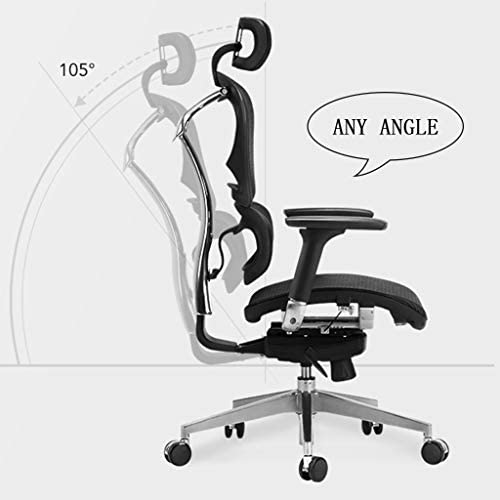 オフィスチェア チェアメッシュリクライニングオフィスチェアインターネットカフェゲームゲーミングチェアホームレジャースイベルチェアギフト (Color : Gray, Size : 126*69*51cm)