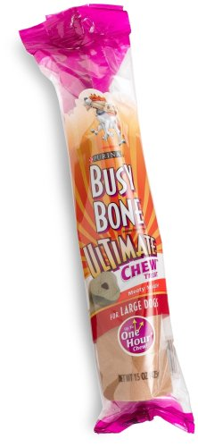Busy Bone Ultimate Chew Treat for Large Dogs, 15-Ounce Bags (Pack of 8), My Pet Supplies