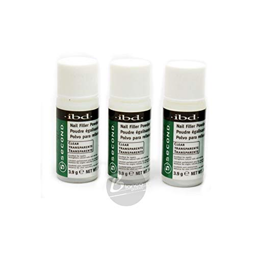 IBD 5 Second Clear Nail Filler Powder 4g (Pack Of 3)