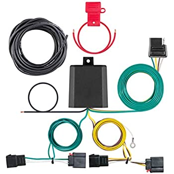 curt 56333 vehicle-side custom 4-pin trailer wiring harness for select  chrysler, dodge, jeep vehicles