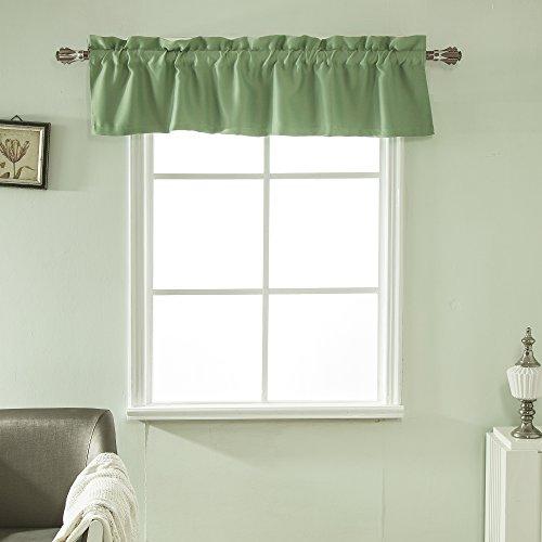 Best Dreamcity Rod Pocket Room Darkening Curtain Valance, 1 Panel, W52