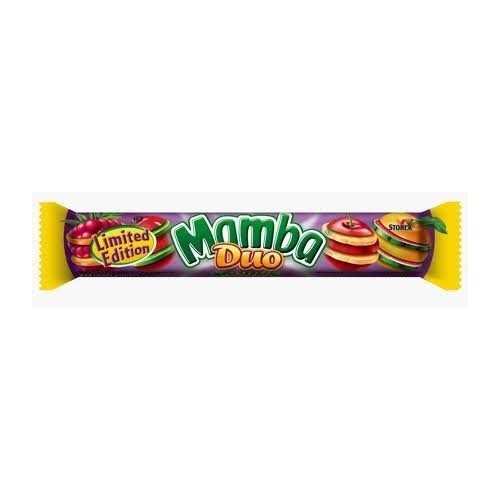 Storck Mamba DUO fruit candy chew- 24 pieces- Imported from EUROPE-Shipping from USA (Mamba Fruit Chews)