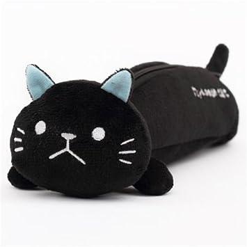 Lindo estuche lápices peluche negro gato de Mind Wave: Amazon.es: Equipaje