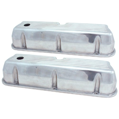 Spectre Performance 5019 Ball Milled Aluminum Tall Valve Cover for Small Block Ford