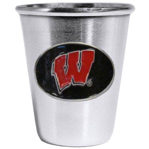 (Siskiyou NCAA Wisconsin Badgers Steel Shot Glass)
