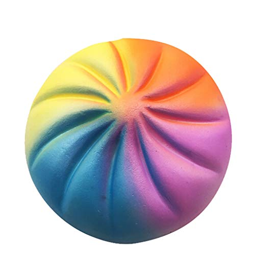 Unionm Stress Relief Toys, Large Colorful Buns Kawaii Squishy Cute Small Fruits Scented Slow Rising Squee Toys Gifts for Kids and Adults Autism Stress Anxiety Relief (Multicolor)