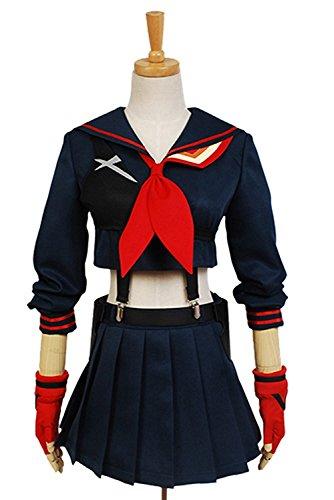 Indian School Uniform Costume (Girl's Sportswear School Uniform Top Skirts Outfit Dress Cosplay Costume Short Skirt Vest Long Sleeve Suit (XXX-Large))