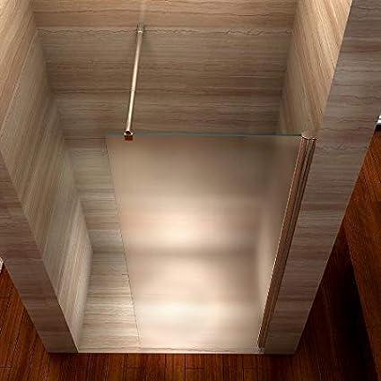 Duschabtrennung aus ESG Sicherheitsglas mit NANObeschichtung 120cm x 200cm i-flair Satinierte Walk In Dusche Alle Gr/ö/ßen #840 10mm STARK