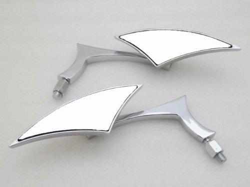 Chrome Mini Custom Side Mirror For Honda Rebel Shadow spi...