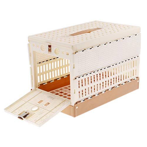 Flameer Bird Transport, Carry Box/Travel CAGE for Finch/Budgie/Pigeon/Canary NEST Box FOLABLE Bird House