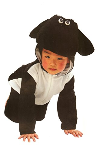 [Fun Play Fancy Dress Black Sheep Onesies Animal Costume 3-5 Years Size M] (Childrens Sheep Costumes)