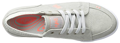 Ryka de la mujer Emory Walking Casual zapatos Cool Mist Grey/Electric Coral/Silver