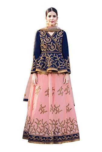 Threads of india Lehenga for partywear choli bollywood lehenga choli Gorgeous Light Pink Colored Banglori Silk Lehnega