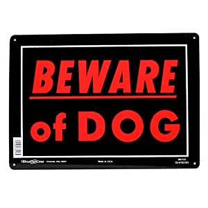 Sign,10x14 'Beware Of Dog'