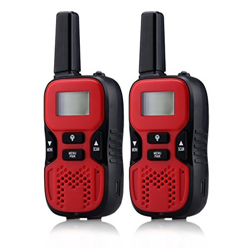 Rechargeable Kids Walkie Talkies, 2 Way Radio 22 Channel FRS/GMRS 2 miles (up to 3.7 Miles) Interphone Walky Talky for Outdoor Adventures Games Camping Hiking