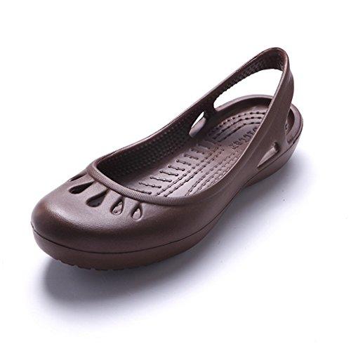 [テンカ]ビーチサンダル レディース レインパンプス フラット 歩きやすい ラバー 夏 ぺたんこ 歩きやすい 日常 疲れない お出かけ デート 雨の日 雨靴 ローヒール