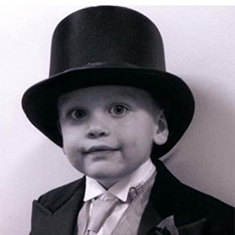 Amazon com: Children's Black Satin Top Hat for Toddler Boys Made in