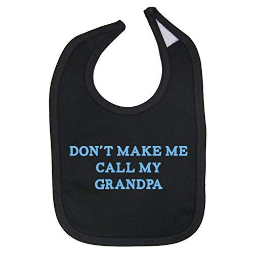 (So Relative! Don't Make Call Grandpa Cotton Baby Bib (Black) )