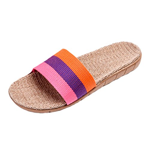 Ladies House Slippers Casual Slipper Indoor & outdoor Anti-Slip Shoes NO.09 ()