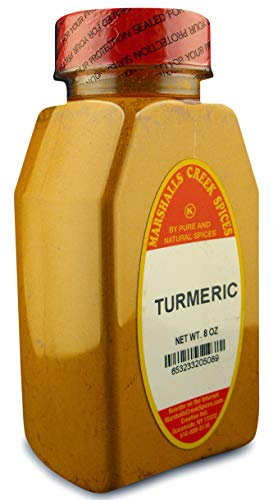 TURMERIC POWDER FRESHLY PACKED IN LARGE JARS, 8 oz, spices, herbs, seasonings