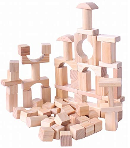Delicieux Oojami Wooden Building Blocks Set   120 Blocks In 6 Shapes W/ A Carrying  Storage