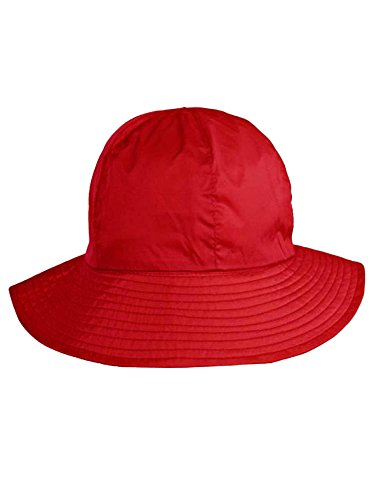 Red Reversible Rain Or Sun Style Bucket Hat ()