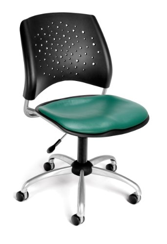 OFM 326-VAM-602 Stars Swivel Vinyl Chair, Teal