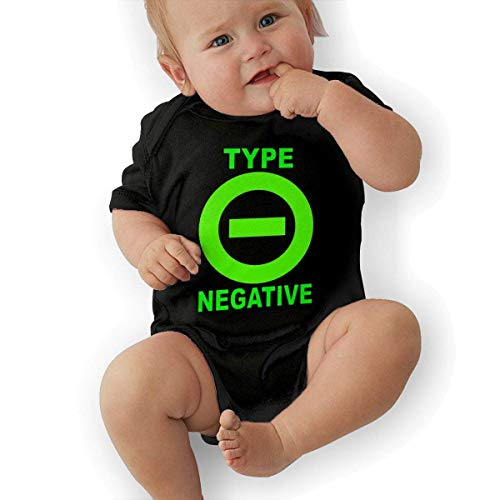 sretinez Infant Type O Negative Onesies Bodysuit Black