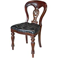 Design Toscano Simsbury Manor Leather Side Chair