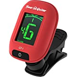Guitar Tuner Clip On, Tune Acoustic & Electric Guitars, Bass, Ukulele, Banjo, and Violin, Easy to Use, Accurate, Fast, Turn 360 Degrees, Chromatic, Electronic, Enhance Your Tuning Experience Now!