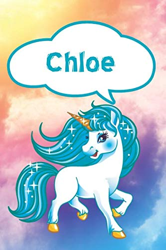 Chloe: Personalized Unicorn Journal, notebook featuring 120 lined pages 6